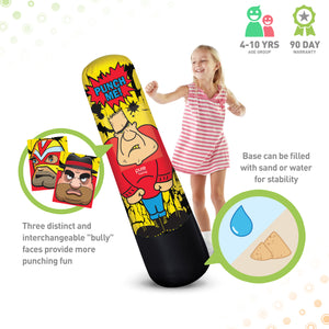 Pure Boxing Bully Bag Inflatable Punching Bag, 56-inch - Pure Fun