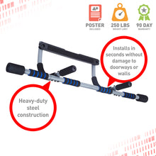 Load image into Gallery viewer, Pure Fitness Workout Bar, Multi-Purpose Doorway Pull-Up Bar - Pure Fun