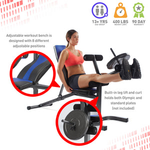 Pure Fitness Adjustable FID Weight Bench - Pure Fun