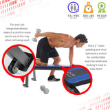 Pure Fitness Flat Bench Weight Bench - Pure Fun
