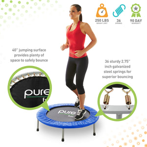 Pure Fun 40-inch Exercise Trampoline, Rebounder - Pure Fun