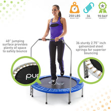 Load image into Gallery viewer, Pure Fun 40-inch Exercise Trampoline with Adjustable Handrail - Pure Fun