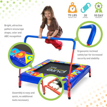 Load image into Gallery viewer, Pure Fun 36-Inch Preschool Jumper Kids Trampoline with Handrail - Pure Fun