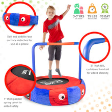 Load image into Gallery viewer, Kids Trampoline with Handrail, Race Car Jumper, 36-inch - Pure Fun