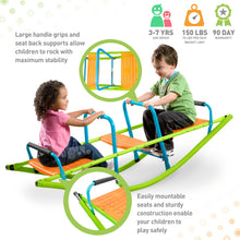 Load image into Gallery viewer, Pure Fun Kids Dual Rocker Seesaw, Indoor or Outdoor - Pure Fun