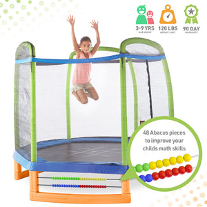 Pure Fun Jump and Play 7-Foot Trampoline Set, Indoor or Outdoor - Pure Fun