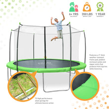 Load image into Gallery viewer, Pure Fun Dura-Bounce 12-Foot Trampoline with Safety Enclosure - Pure Fun