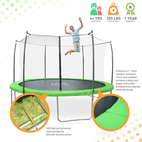 Pure Fun Dura Bounce 15ft Trampoline With Enclosure