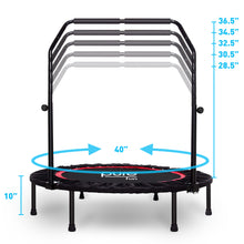 Load image into Gallery viewer, Pure Fun 40-inch Exercise Trampoline with Adjustable Handrail 9003MTH Dimensions