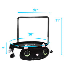 Load image into Gallery viewer, Pure Fun 36-inch Kitty Cat Plush Jumper Kids Trampoline with Handrail, Pillow and Slippers