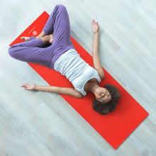 Load image into Gallery viewer, Life Energy Reversible Yoga Mat, PVC, 6mm, Ruby and Charcoal - Pure Fun