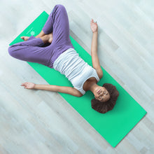 Load image into Gallery viewer, Life Energy Reversible Yoga Mat, PVC, 6mm, Emerald and Blue - Pure Fun
