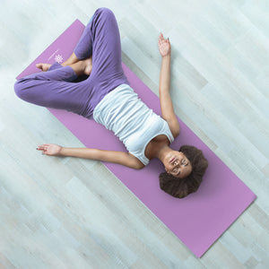 Life Energy Reversible Yoga Mat, PVC, 6mm, Amethyst and Blue - Pure Fun