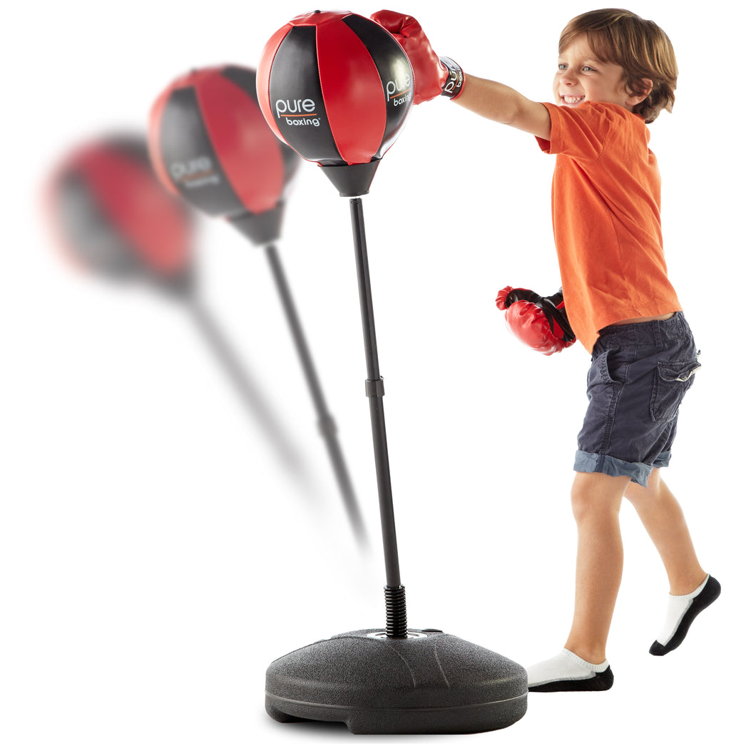 Pure Boxing Punch and Play Punching Bag for Kids - Red, ages 3 to 7 - Pure Fun