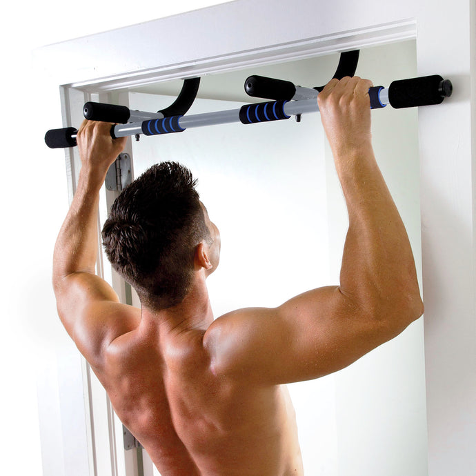 Pure Fitness Workout Bar, Multi-Purpose Doorway Pull-Up Bar - 8633WB