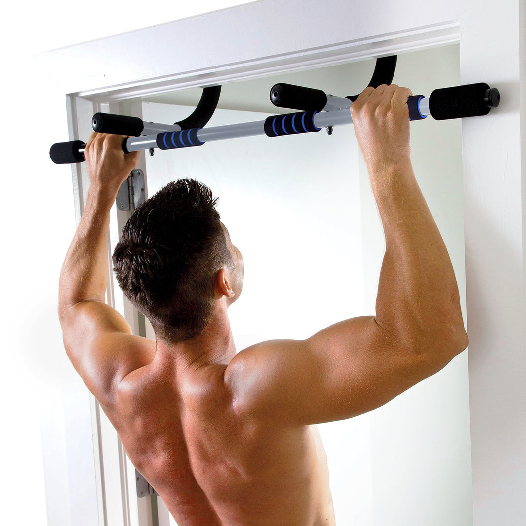 Pure Fitness Workout Bar, Multi-Purpose Doorway Pull-Up Bar - Pure Fun
