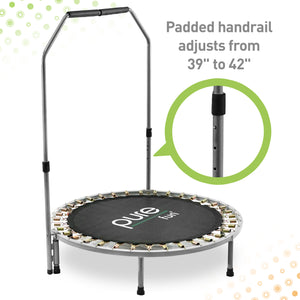 Pure Fun 40-inch Exercise Trampoline with Adjustable Handrail - Pure Fun