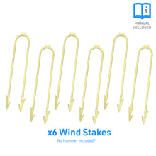 Load image into Gallery viewer, Outdoor Trampoline Anchor Kit, Wind Stakes, Universal, Set of 6 - Pure Fun