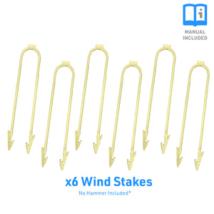 Outdoor Trampoline Anchor Kit, Wind Stakes, Universal, Set of 6 - Pure Fun