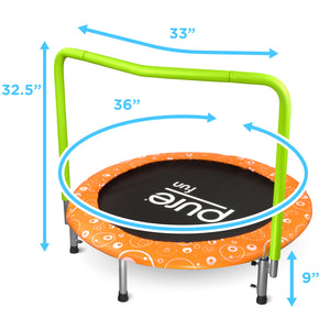 Pure Fun 36-Inch Kids Bungee Trampoline with Handrail - Pure Fun