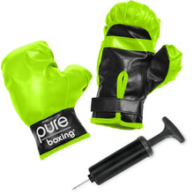 Load image into Gallery viewer, Punch and Play Punching Bag for Kids, Lime ages 3 to 7 - Pure Fun