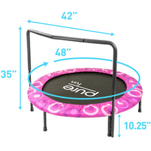 Load image into Gallery viewer, Pure Fun 48-inch Super Jumper Kids Trampoline with Handrail - Pink - Pure Fun