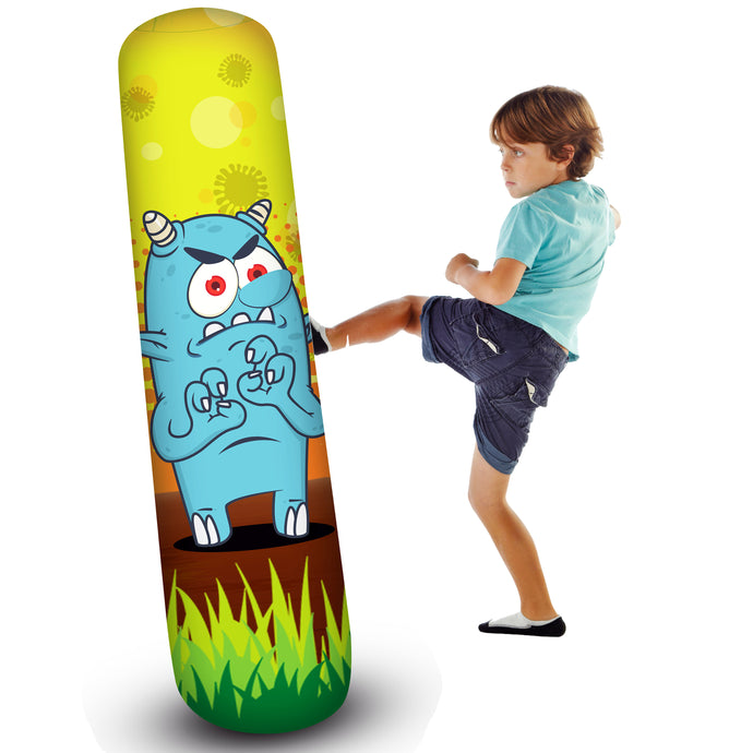 Pure Boxing Monster Mash 56-Inch Inflatable Punching Bag for Kids - Pure Fun