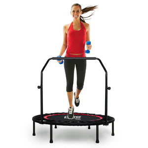 Pure Fun 40-inch Exercise Trampoline with Adjustable Handrail, Black 9003MTH