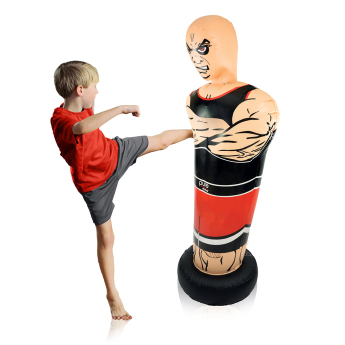 Pure Boxing Tough Guy 56-Inch Inflatable Punching Bag for Kids - Pure Fun