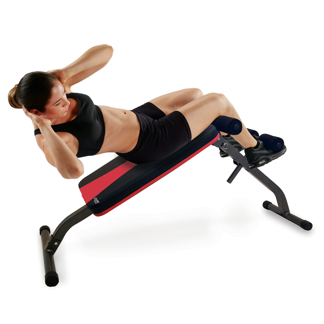 Pure Fitness Adjustable Ab Bench, Foldable and Adjustable