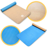 Life Energy 5mm EkoSmart Cork Yoga Mat with Yoga Strap - Pure Fun
