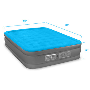 Air Comfort Camp Mate Raised Air Mattress with External Battery Pump - Queen - Pure Fun