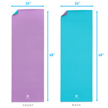 Load image into Gallery viewer, Life Energy 6mm Reversible Non-Slip Yoga Mat - Purple, Teal - Pure Fun