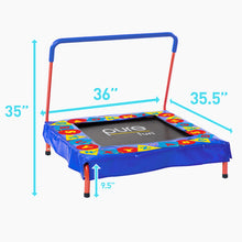 Load image into Gallery viewer, Kids Trampoline with Handrail, Preschool Jumper, Spring Free, 36-inch - Pure Fun