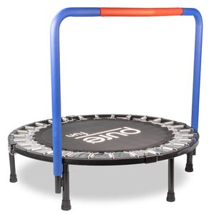 Kids Trampoline with Handrail, Race Car Jumper, 36-inch - Pure Fun