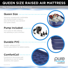 Load image into Gallery viewer, Pure Comfort Raised Air Mattress with External Battery Pump - Queen - Pure Fun