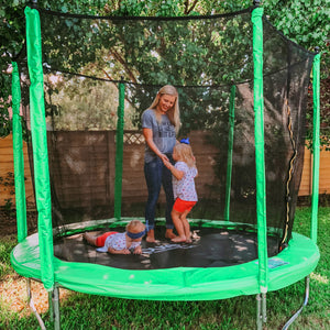 Pure Fun Dura-Bounce 8-Foot Trampoline with Safety Enclosure