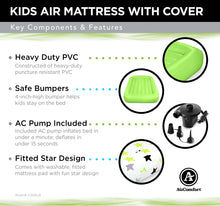 Load image into Gallery viewer, Air Comfort Dream Easy Toddler Air Mattress with 100% Cotton Cover - Pure Fun