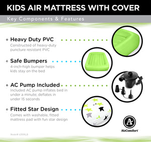 Air Comfort Dream Easy Toddler Air Mattress with 100% Cotton Cover - Pure Fun