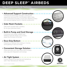 Load image into Gallery viewer, Air Comfort Deep Sleep Twin Raised Air Mattress with Built In Pump - Pure Fun