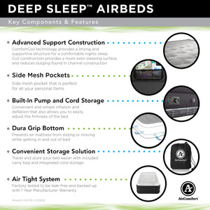 Air Comfort Deep Sleep Twin Raised Air Mattress with Built In Pump - Pure Fun