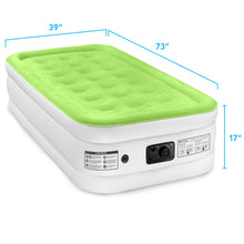 Load image into Gallery viewer, Air Comfort Dream Easy Raised Air Mattress with Built-in Pump - Twin - Pure Fun