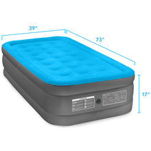 Load image into Gallery viewer, Air Comfort Camp Mate Raised Air Mattress with External Battery Pump - Twin - Pure Fun