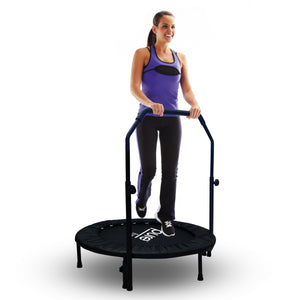 Pure Fun 40-inch Bungee Exercise Trampoline with Adjustable Handrail