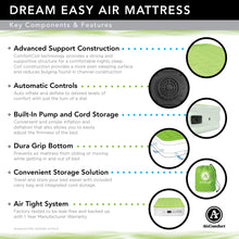 Load image into Gallery viewer, Air Comfort Dream Easy Twin Size Raised Air Mattress with Built-in Pump - Pure Fun