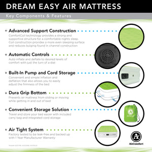Air Comfort Dream Easy Twin Size Raised Air Mattress with Built-in Pump - Pure Fun