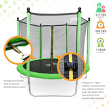 Dura-Bounce Outdoor Trampoline with Enclosure, 8-Foot - Pure Fun