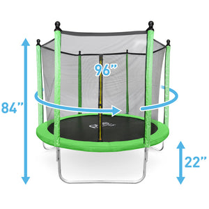 Pure Fun Dura-Bounce 8-Foot Trampoline with Safety Enclosure - Pure Fun
