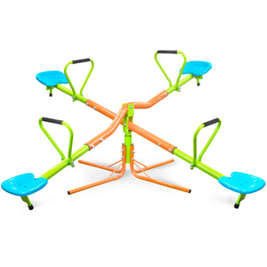 Kids Playground, 360 Quad Swivel Seesaw, Indoor or Outdoor - Pure Fun