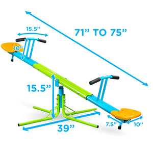 Kids Playground, Heavy Duty 360 Swivel Seesaw, Indoor or Outdoor - Pure Fun